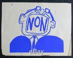 Affiche originale mai 68 NON poster may 1968 284