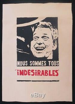 Affiche originale mai 68 NOUS SOMMES TOUS INDESIRABLES poster may 1968 240