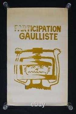 Affiche originale mai 68 PARTICIPATION GAULLISTE poster may 1968 165