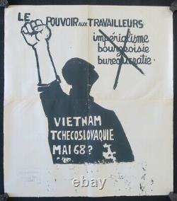 Affiche originale mai 68 POUVOIR AUX TRAVAILLEURS Vietnam poster 1968 433