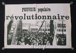 Affiche originale mai 68 POUVOIR POPULAIRE REVOLUTIONNAIRE poster may 1968 070