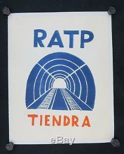 Affiche originale mai 68 RATP TIENDRA poster may 1968 218