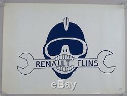 Affiche originale mai 68 RENAULT FLINS CRS french poster 1968 083