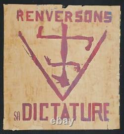 Affiche originale mai 68 RENVERSONS SA DICTATURE poster 1968 349
