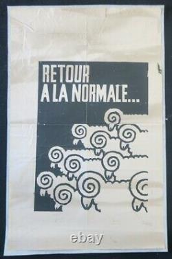 Affiche originale mai 68 RETOUR A LA NORMALE mouton sheep poster may 1968 441