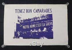 Affiche originale mai 68 TENEZ BON CAMARADES ARME GREVE french poster 1968 068