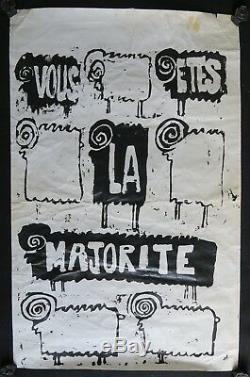 Affiche originale mai 68 VOUS ETES LA MAJORITÉ mouton poster may 1968 156