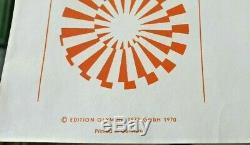 Affiche originale offset Pierre SOULAGES JO Munich 1972 Munchen Olympics Poster