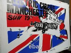 Affiche poster Vintage Originale ULTRA RARE! SEX Pistols MANCHESTER RARE