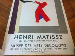 Affiche poster original Henri Matisse 1961 Mourlot