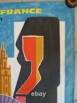 Air Franceguy Georgetspain-espagneaffiche Originalevintage Poster1963