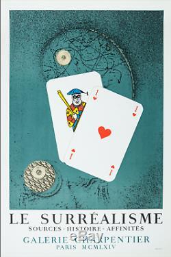 Ancienne affiche d'art Lithographie Max ERNST imp. Mourlot old poster Paris 1964
