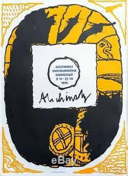 Ancienne affiche old poster Alechinsky Pierre 1974 Darmstadt