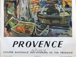 André Planson Affiche Original 1957 Provence Sncf Railways French Poster
