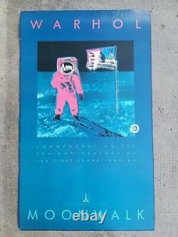 Andy Warhol Moonwalk 20th anniversary Affiche ancienne/original poster 1989
