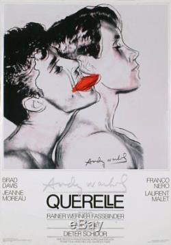 Andy Warhol Querelle (Blanc) Original 1982 Affiche Poster Artistique Très