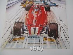 Ao952 F1 Original Affiche Grand Prix De Monaco 6/7 Mai 1978 Etat Moyen