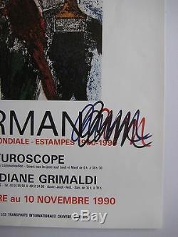 Arman Armand Fernandez Affiche 1990 Signée Aux Feutres Handsigned Poster Nice