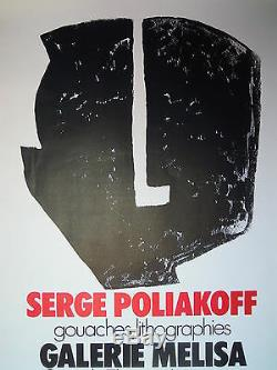 Art Russe 1972 Original! Poster Affiche Serge Poliakoff Russian Art