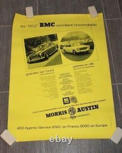 (B) Original vintage poster affiche 1100 BMC Princess Riley Wolseley Morris