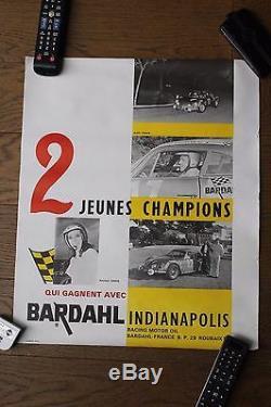 (B) Original vintage poster affiche BARDAHL Alpine berlinette Nicole Alex VINEIS