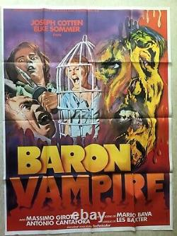 BARON VAMPIRE (MARIO BAVA) / Affiche Cinéma 1971 Original French Movie Poster