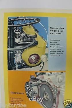BSA SUNBEAM SCOOTER affiche original poster TRIUMPH TIGRESS LAMBRETTA VESPA