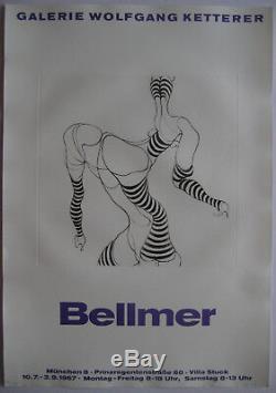 Bellmer Hans Affiche Avec Gravure 1967 Etching Poster Surréalisme Érotisme