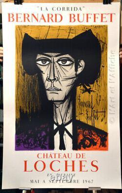 Bernard BUFFET, LA CORRIDA Château de Loches, Affiche originale 1967 Art poster