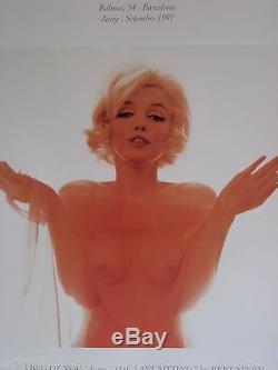 Bert Stern Affiche Marilyn Monroe Produite En 1997 Fond Poligrafa Poster