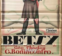Betsy Pascal Bastia Affiche Lithographie Originale 1927 Art Deco French Poster