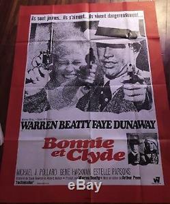 Bonnie And Clyde / Affiche / Cinéma / Poster / 120x160 / Original