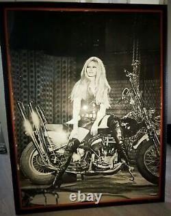 Brigitte Bardot Harley Davidson Poster encadrée 1967 originale poster affiche
