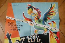 Brigitte Bardot Mam'zelle Pigalle 1956 Poster Affiche Original