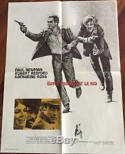 Butch Cassidy Et Le Kid / Newman / Redford/ Affiche / Cinéma / Poster / Original