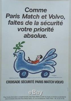 CROISADE SECURITE PARIS MATCH VOLVOAffiche originale entoilée SAVIGNAC 44x64cm