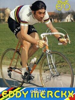 CYCLISME EDDY MERCKX AFFICHE ORIGINALE SIGNéE 48x66cm