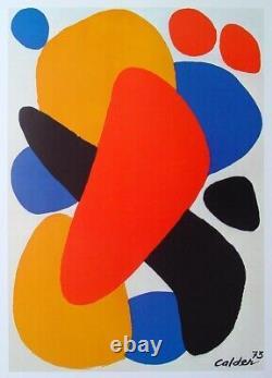 Calder Alexander Affiche Boomerang Signée Signed Poster Tel Aviv 1977 Pop Art