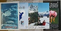 Chamonix Megeve St Gervais MtBlanc, 9 affiches anciennes/original travel posters