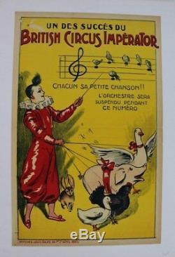 Cirque Affiche Originale Circus Poster British Circus Imperator Galice 1900