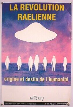 Claude Celler Raël 2 Affiches Originales De Conférence Très Rare 1980