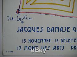 Cocteau Jean Affiche Lithographique 1973 Signée Signed Lithographic Poster