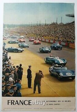 Course automobile 24 heures Le Mans Affiche ancienne/original poster 1959