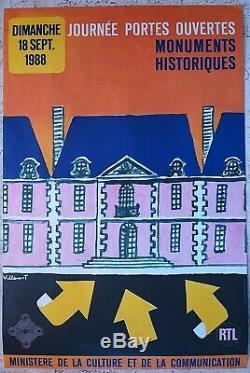 Croisade air pur & monuments, Villemot 2 affiches anciennes/original posters