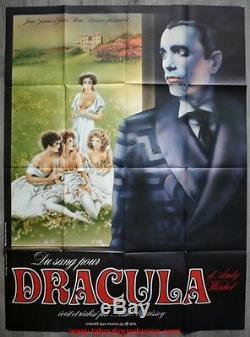DU SANG POUR DRACULA Affiche Cinéma Movie Poster 160x120 ORIGINALE ANDY WARHOL