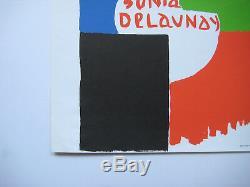Delaunay Sonia Rare Affiche En Lithographie 1975 Lithographic Poster Mnam Paris