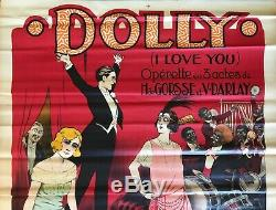 Dolly (i Love You) Affiche Lithographie Originale 1922 Clerice French Poster