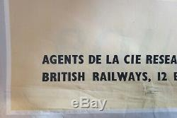 Dublin Irelande British Railways Affiche ancienne /original poster 1950's