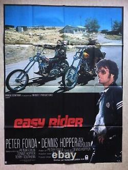 Easy Rider (Affiche originale cinéma EO 1969) Original French Big Movie Poster