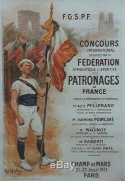 FEDERATION GYMNASTIQUE SPORTIVE PATRONAGES de FRANCEAffiche originale entoilée